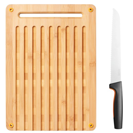 Functional Form bambusa maizes griešanas dēlīšu un nažu komplekts